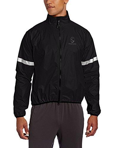 (Showers Pass Men's Lightweight/Packable Waterproof Storm Jacket (Black - Medium))