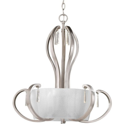Progress Lighting P3574-09 5-Light Inverted Pendant with Clear Glass Shades