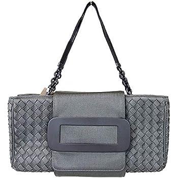 79930cf4c41e Bottega Veneta Intrecciato Gray Fabric Evening Tote Bag 309348 1300