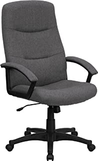 Flash Furniture High Back Gray Fabric Executive Swivel Chair with ArmsAmazon com  Flash Furniture High Back Gray Fabric Executive Swivel  . Grey Fabric Office Chair. Home Design Ideas