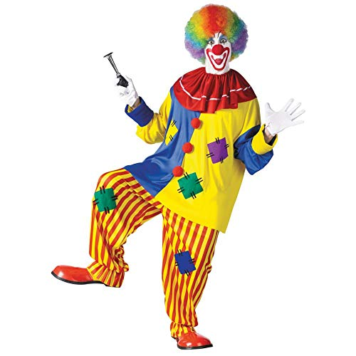 Fun World Men's Big Top Clown Costume, Multicolored, One Size]()