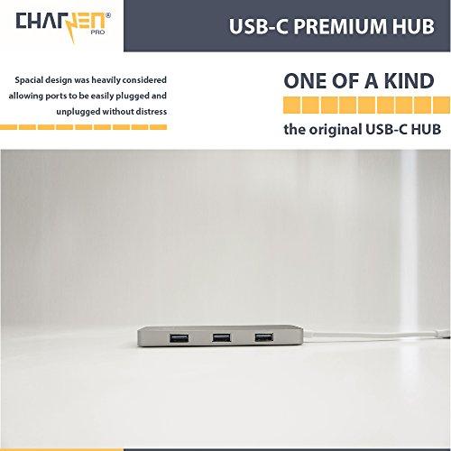 USB C Hub, CharJenPro Certified Adapter, 4K HDMI, USB 3.0, Micro/SD Card Reader, Power Delivery Apple MacBook Pro 2018, 2017, 2016, iMac Pro, Chromebook, XPS 13, Windows, Samsung S9, Space Gray by CharJenPro (Image #7)