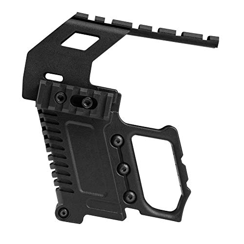 LEJUNJIE Tactical Area Pistol Toy Carbines Kit Installation W/Rail Panel ABS for Glock G17 G18 G19 GBB Series Loading Accessories (Best Glock Carbine Conversion Kit)