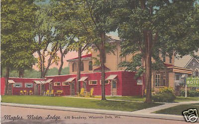 D2582 WI, Wisconsin Dells Maples Motor Lodge Postcard