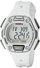 Timex Women's Ironman 30-Lap Digital Quartz Mid-Size Watch, White/Silver-Tone - TW5K89400