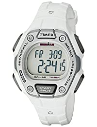 Timex Women's TW5K894009J Ironman Classic 30 Digital Display Quartz White Watch