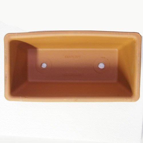 イタリア製 テラコッタ鉢 プレーンプランター 32cm 2個入り