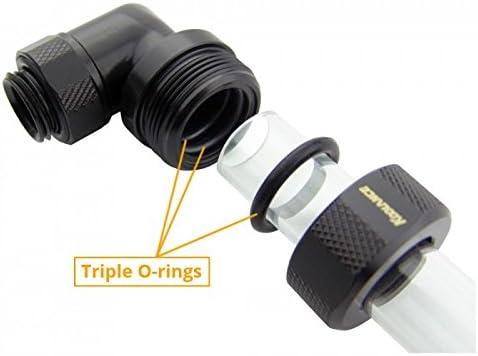 12mm OD 5//32 4-Pack Koolance G1//4 Compression Fitting for Rigid Tubing Black