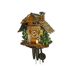 August Schwer Cuckoo Clock House, Hunter, Bird