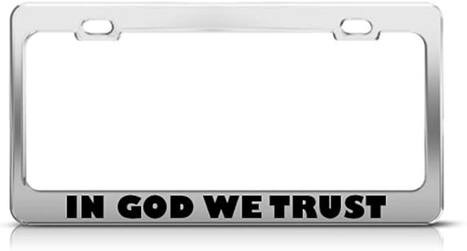 Free Caps Faith Hope and Love supreme chrome metal license plate frame