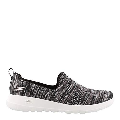 (Skechers Women's Performance, Gowalk Joy Terrific Slip on Walking Shoes Black Gray 5.5)