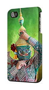 S1347 Khon Thai Dance Case Cover For IPHONE 4 4S