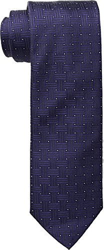 Eton Men's 8cm Basketweave Tie Navy - Tie Basketweave