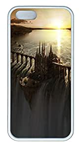 Castle Dam art TPU Silicone Case Cover for iPhone 5/5S ¨C White