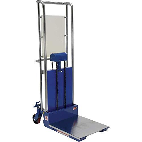 Vestil HYD-10 Foot Pump Hefti-Lift, 880 lbs Capacity, 24' Length x 23' Width Platform, 3-1/2' - 59' Height Range