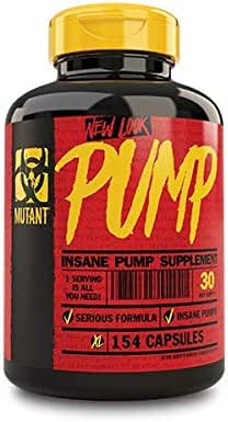 Mutant Pump – Pre-Workout Capsules, Gives You the Insane Pump You Demand, with Tested Levels of the Key Vasodilating/Nitric Oxide Inducing Ingredients - 154 Capsules Per Bottle