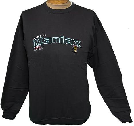 e375b4418 Image Unavailable. Image not available for. Color  XFL 2XL (XXL) Original  Throwback Black Memphis Maniax Sweatshirt