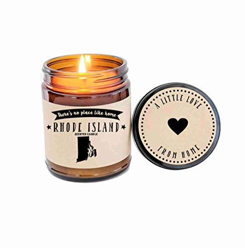 Rhode Island Scented Candle State Candle Homesick Gift No Place Like Home Thinking of You Holiday Gift