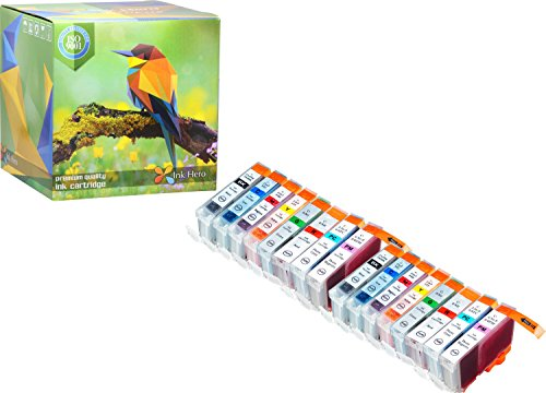 Ink Hero 16 Pack Ink Cartridges for CLI-8, PGI-5 , PIXMA Pro 6000, Pro 6500, Pro9000, Pro9000 Mark II printer inks for inkjet printers (6500 Inkjet)