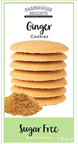 Farmhouse Biscuits – Sugar Free Ginger Cookies 150g (3 Pack)