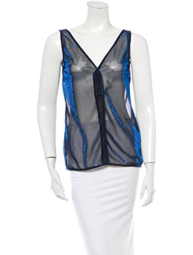 Dolce&Gabbana Metallic Blue and Black Top Made in Italy -