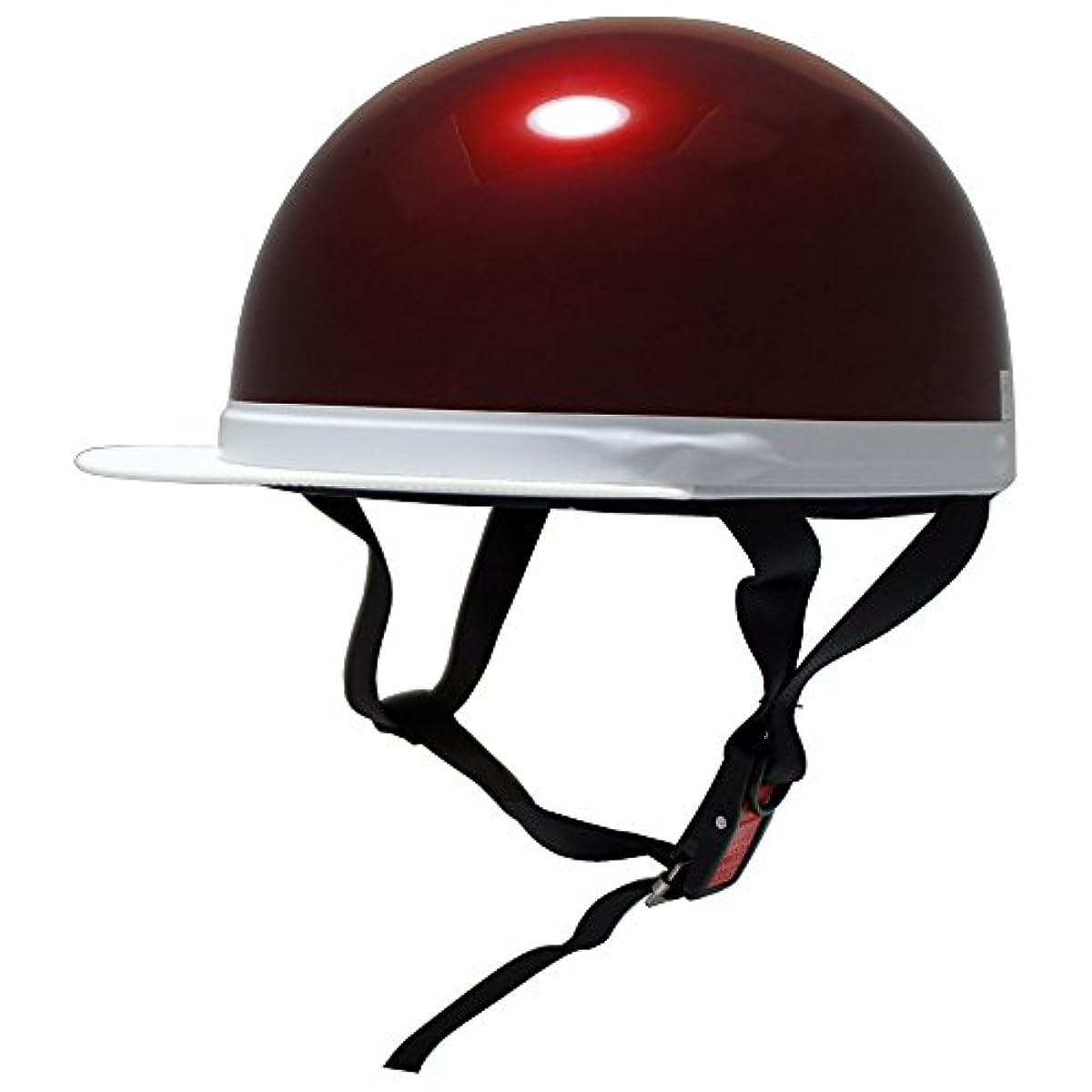 [해외] [B 앤드 B] 오토바이용 헬멧 화이트즈바 반캡 SG마크 적합성피혁품 캔디 레드 프리 사이즈 BB-300