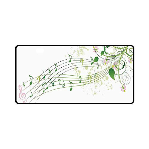 YOLIYANA Music Decor Utility License Plate,Abstract Spring Song Melody Romantic Floral Festival Celebration Flower for Car,11.8