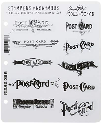 - Stampers Anonymous Tim Holtz Cling Rubber Stamp Set, Postcards
