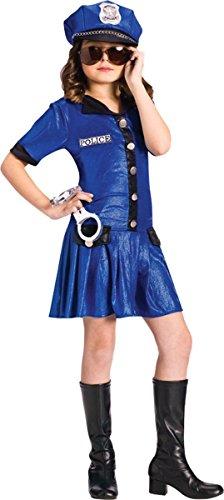 Fun World Costumes Police Girl Child (6-8 years) (Dress Up Police Uniform)