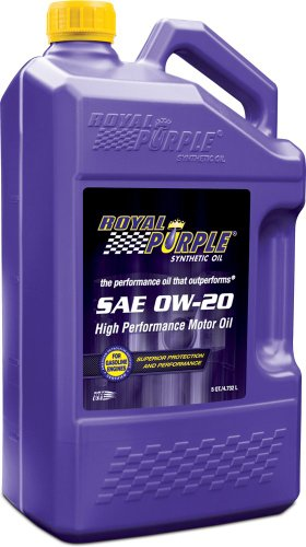 Royal Purple 54020 API-Licensed SAE 0W-20 High Performance Synthetic Motor Oil - 5 qt. (Case of 3) by Royal Purple