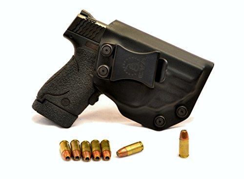 CYA Supply Co. IWB Holster Fits: S&W M&P Shield 9/40 with Crimson Trace 489 - Veteran Owned Company - Made in USA - Made from Boltaron - Inside Waistband Concealed Carry Holster