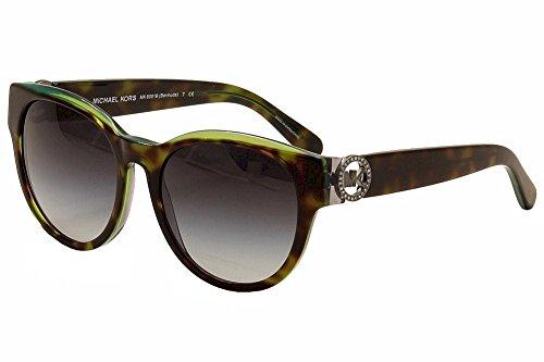 Michael Bermuda Kors (Michael Kors Eyewear Womens Bermuda Round Sunglasses (Green/Havana))
