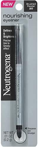 Neutrogena Nourishing Eyeliner Pencil, Brushed Pewter 20, .01 Oz.