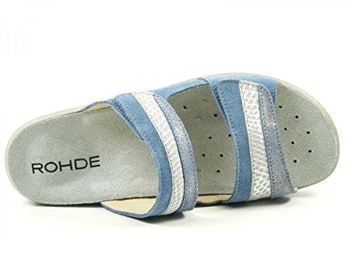 Rohde 5759 Herne Mules Femme Changement Semelle Blau ORRzE