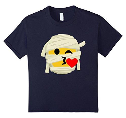 Him And Her Halloween Costumes (Kids Mummy Emoji T-Shirt Kiss Heart Halloween Costume Gift 12 Navy)
