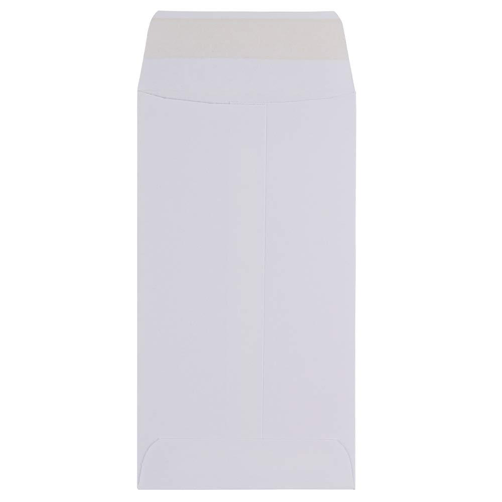50//Pack 3 1//2 x 6 1//2 JAM PAPER #7 Coin Business Envelopes White