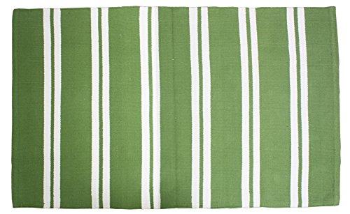 Cotton Fashion Reversible Indoor/Outdoor Cabana Stripe Woven Area Rag Rug, 30x48