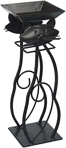 Deco Flair Rope, Tealight Votive Holder Bronze Antique Cat, String of 5 ()