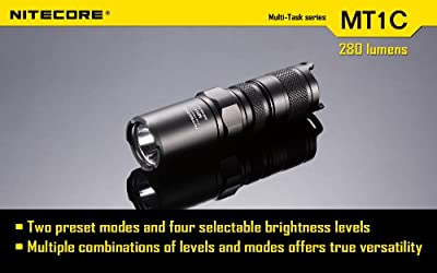 NiteCore CREE XP-G R5 MT1C Multitask LED Flashlight, Black
