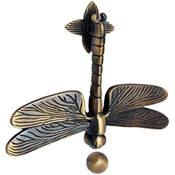 Adonai Hardware Dragon Fly Brass Door Knocker   Antique Brass