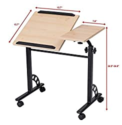 Skb Family Stand Rolling Angle & Height Adjustable Laptop Cart Desk Durable Construction &