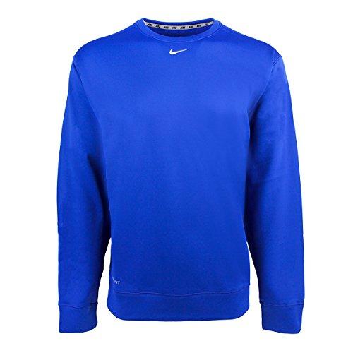Nike V-neck Pullover (Nike Men's Therma-Fit KO Sweatshirt Royal (Large))