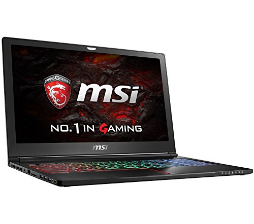 "MSI GS63VR STEALTH PRO-078 (i7-7700HQ, 16GB RAM, 256GB SATA SSD + 1TB HDD, NVIDIA GTX 1070 8GB, 15.6"" Full HD 120Hz 3ms, Windows 10) VR Ready Gaming Notebook"
