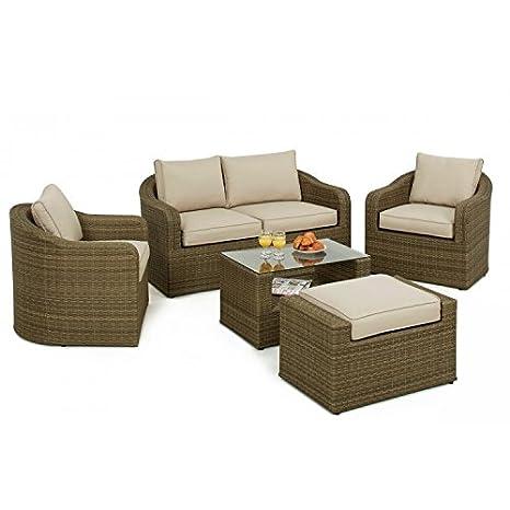 Sienne Muebles de jardín de mimbre Washington Juego de sofá ...