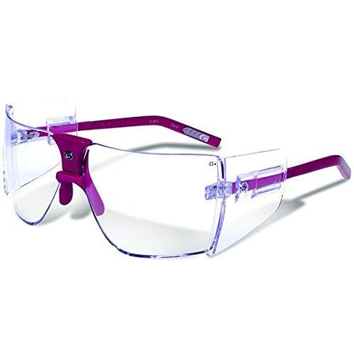 Gargoyles Performance Eyewear Classic Polycarbonate Safety Glasses, Fuchsia Frame/Clear Lenses