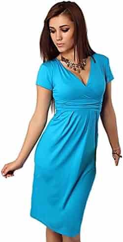 bf1bd6f39860f MTRNTY Women's Maternity Elegant Elastic Casual Summer Dress 1028