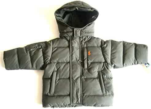 02ad173a7 Ralph Lauren New Boys Hooded Down Puffer Jacket Coat Olive Green (12 Months)