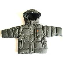 Ralph Lauren New Boys Hooded Down Puffer Jacket Coat Olive Green (12 Months)