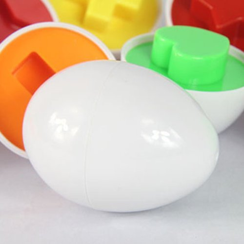 LUQUAN 6Pcs/Set Mixed Shape Wise Pretend Puzzle Smart Eggs Baby Kid Learning Kitchen Toys