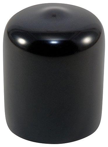 Caplugs 99390022 Plastic Round Cap VC-750-16, VINYL, Cap ID 0.750'' Length 1.000'', Black (Pack of 25) by Caplugs